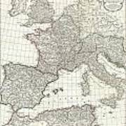 1763 Anville Map Of The Western Roman Empire Poster
