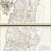 1763 De Lisle Map Of The Holy Land Poster