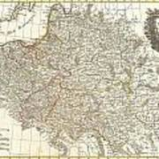 1771 Zannoni Map Of Poland And Lithuania Poster