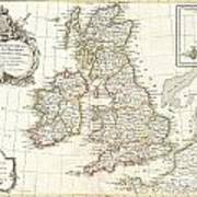 1771 Zannoni Map Of The British Isles  Poster