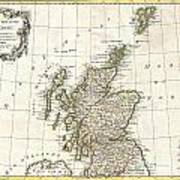 1772 Bonne Map Of Scotland  Poster