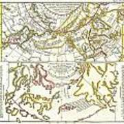 1772 Vaugondy Diderot Map Of Alaska The Pacific Northwest And The Northwest Passage Poster by Paul Fearn