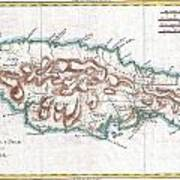 1780 Raynal And Bonne Map Of Jamaica West Indies Poster