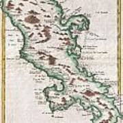 1780 Raynal And Bonne Map Of Martinique West Indies Poster