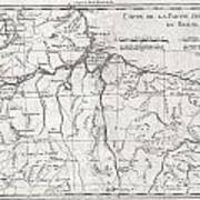 1780 Raynal And Bonne Map Of Northern Brazil Poster