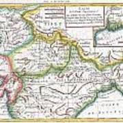 1780 Raynal And Bonne Map Of Northern India Poster