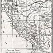 1780 Raynal And Bonne Map Of Peru Poster