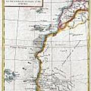 1780 Raynal And Bonne Map Of Western Africa Poster