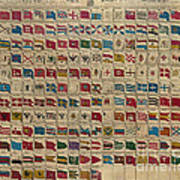 1783 World Naval Flags Poster