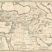 1787 Bonne Map Of The Dispersal Of The Sons Of Noah Poster
