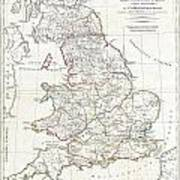 1794 Anville Map Of England In Ancient Roman Times Poster