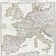 1794 Anville Map Of Europe In Late Roman Times Poster