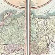 1799 Cary Map Of The Russian Empire Poster