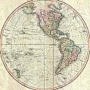 1799 Cary Map Of The Western Hemisphere  Poster