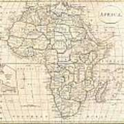 1799 Clement Cruttwell Map Of Africa  Poster