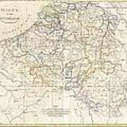 1799 Clement Cruttwell Map Of Belgium Or The Netherlands Poster