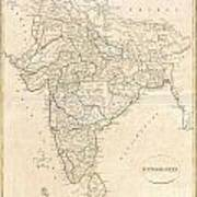 1799 Clement Crutwell Map Of Hindoostan Poster