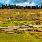 #18 At Chambers Bay Golf Course - Location Of The 2015 U.s. Open Tournament Poster