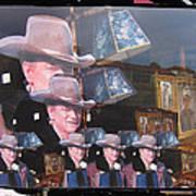 21 Duke's John Wayne Cardboard Cutout Collage Tombstone  Arizona 2004-2009 Poster