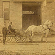 1800's Vintage Photo Of Horse Drawn Carriage Poster