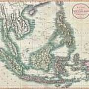 1801 Cary Map Of The East Indies And Southeast Asia  Singapore Borneo Sumatra Java Philippines Poster
