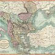 1801 Cary Map Of Turkey In Europe Greece And The Balkan Poster
