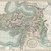 1801 Cary Map Of Turkey Iraq Armenia And Sryia Poster