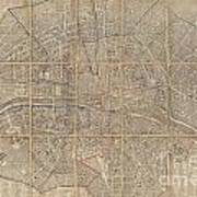 1802 Chez Jean Map Of Paris In 12 Municipalities France Poster
