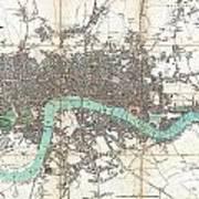 1806 Mogg Pocket Or Case Map Of London Poster