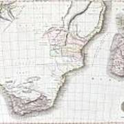 1809 Pinkerton Map Of Southern Africa Poster