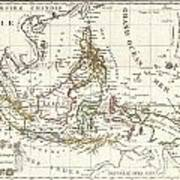 1810 Tardieu Map Of The East Indies Singapore Southeast Asia Sumatra Borneo Java Poster