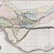 1813 Pinkerton Map Of Western Africa Poster