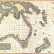 1814 Thomson Map Of Australia New Zealand And New Guinea Poster