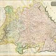 1814 Thomson Map Of Bavaria Germany Poster