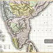 1814 Thomson Map Of India Poster