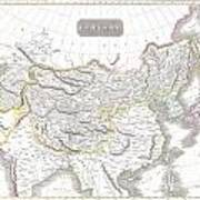 1814 Thomson Map Of Tartary  Mongolia Tibet Poster