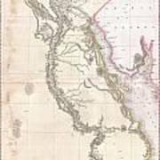 1818 Pinkerton Map Of Egypt Poster