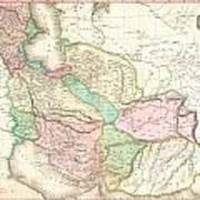 1818 Pinkerton Map Of Persia  Poster