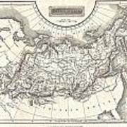 1826 Assheton Map Of Russia In Asia Poster