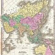 1827 Finley Map Of Asia And Australia Poster