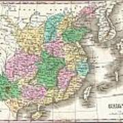 1827 Finley Map Of China  Poster