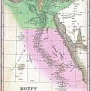 1827 Finley Map Of Egypt Poster