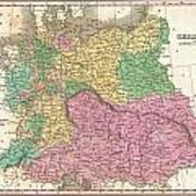 1827 Finley Map Of Germany Poster