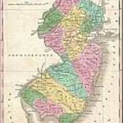 1827 Finley Map Of New Jersey  Poster