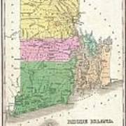 1827 Finley Map Of Rhode Island Poster