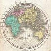 1827 Finley Map Of The Eastern Hemisphere  Poster