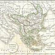 1832 Delamarche Map Of Greece And The Balkans Poster