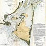1853 Us Coast Survey Map Of Key Biscayne Bay Key West And The Cedar Keys Florida Poster