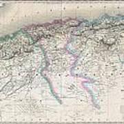 1857 Dufour Map Of Algeria Poster