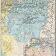1857 Dufour Map Of Constantine Algeria Poster